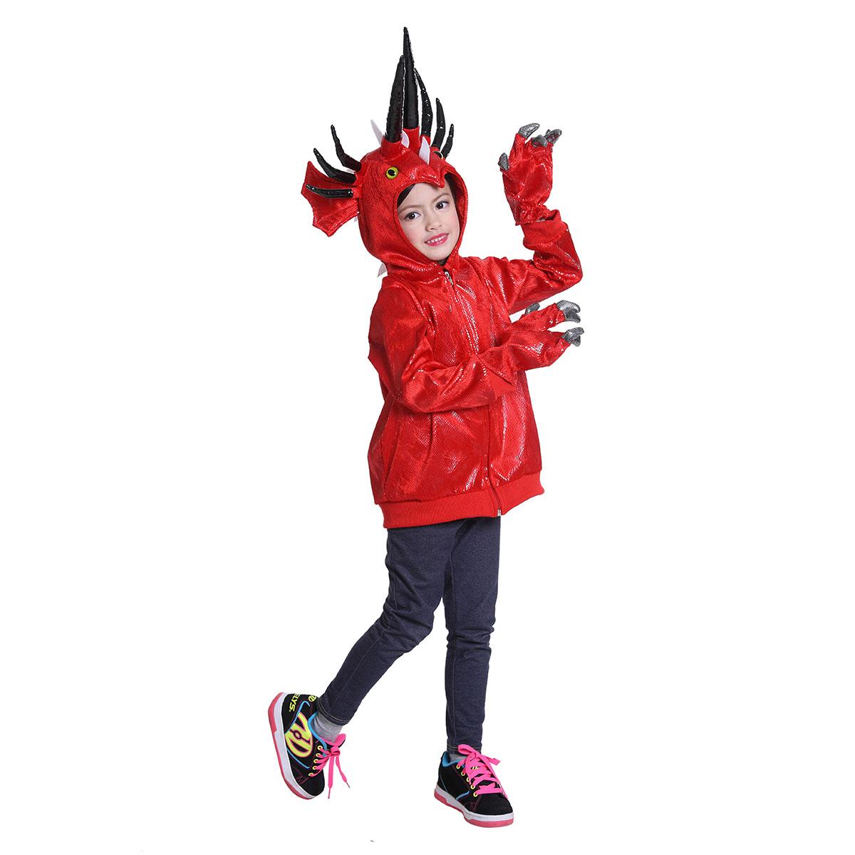 fiery dinosaur costume for girls and boys - dragon halloween costume