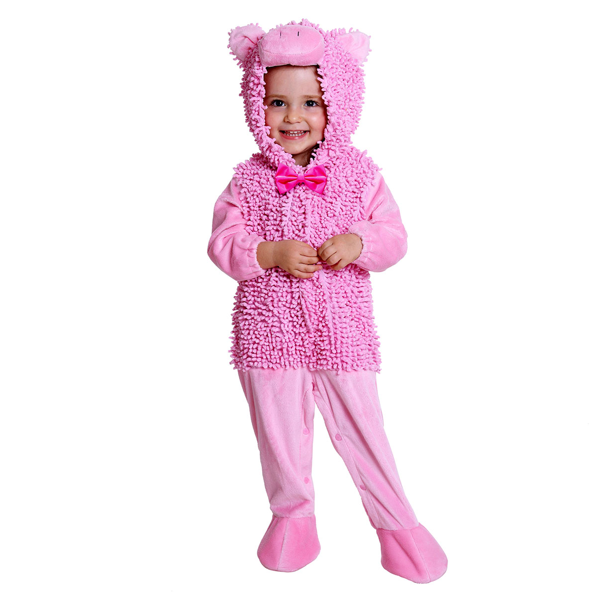 kids pink piggy halloween costume for baby girls